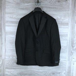 JB Britches Logal Black 2 Button Wool Blazer
